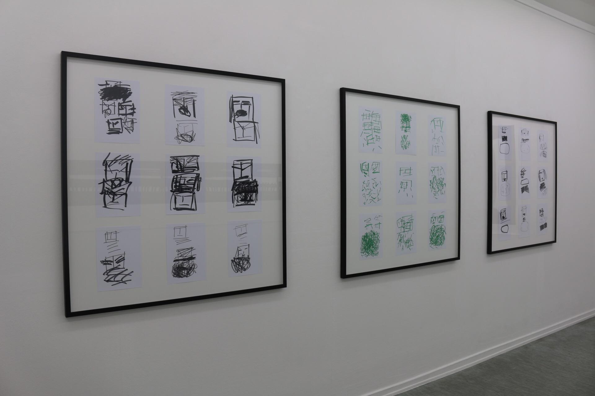 Ausstellungsansicht L.A.Galerie, 2016