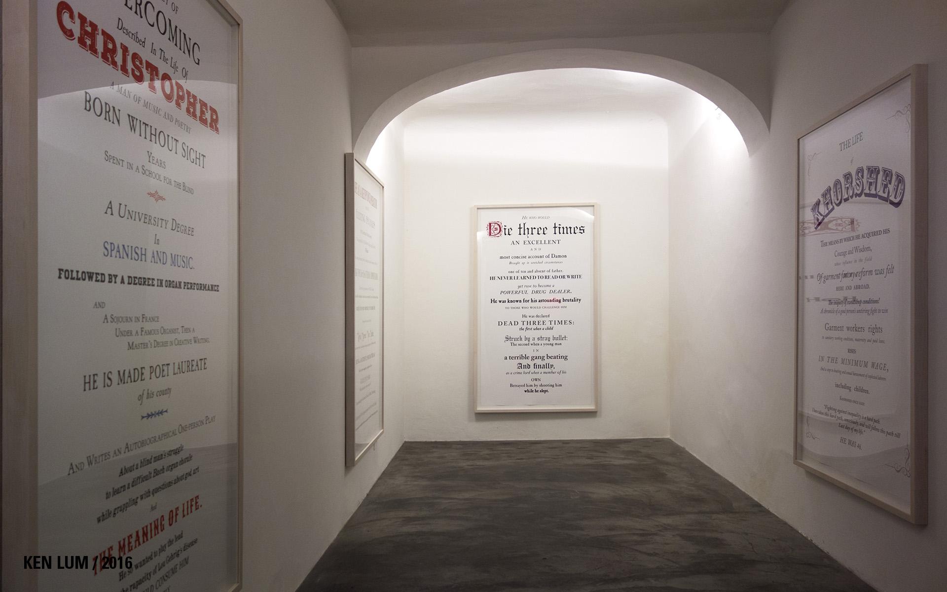 Ken Lum, Installation View, Florence, 2016