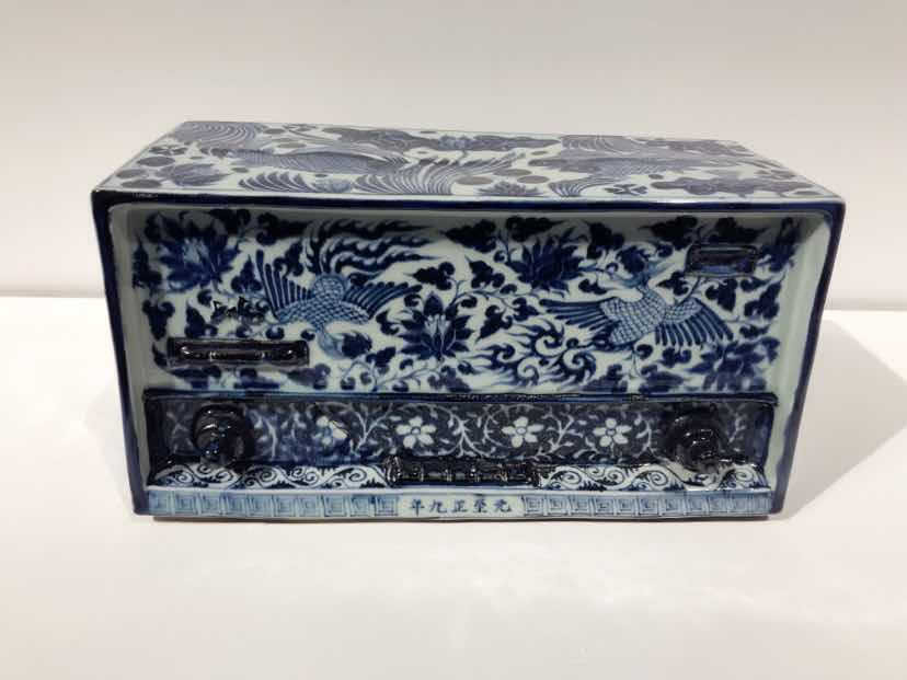 Ma Jun – New Chinese Series  Blue and White Radio– Porcelain, ca 35 x 18 x 22 cm